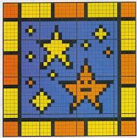 маленькие схемы для вышивания звезды
