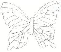 схема бабочки из бутылки