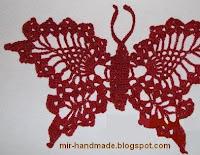 схема вязанной бабочки