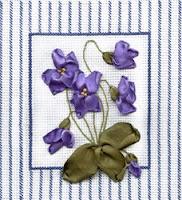 Набор для вышивания лентами Фиалки.