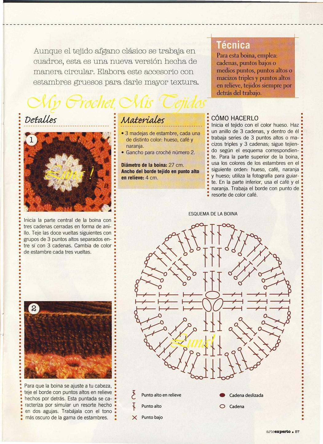 BOINA FÁCIL DE HACER A CROCHET | Patrones Crochet, Manualidades y ...