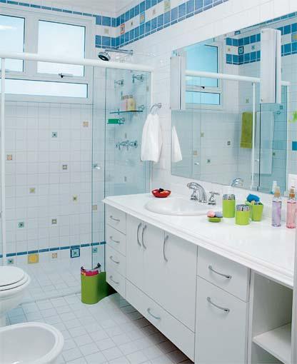 Tudo Fácil e Rápido Banheiros simples e lindos -> Decoracao De Ceramica Para Banheiro Pequeno