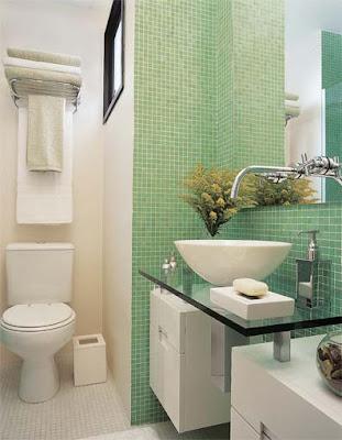 banheirop jun04 1 Banheiros simples e lindos