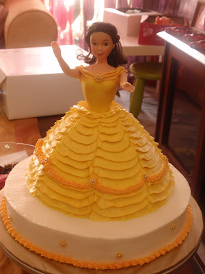 JUZCAKES Princess Belle Doll Cake