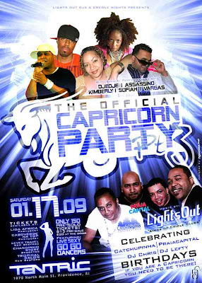 Lights Out Crew Official Capricorn Party, Featuring the Lights Out Djs, Zouk RnB, Tropcial RnB, Tarraxinha and more....