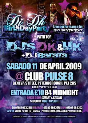 Dj Dk Zouk Birthday Party, with Dj Dk, Dj UK, Dj Barata £10 entry B4 Midnight