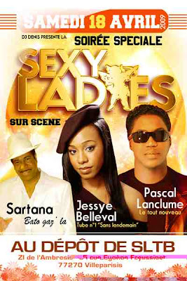 Soiree Speciale - Sexy Ladies - Sartana, Jessye Belleval et Pascal Lanclume