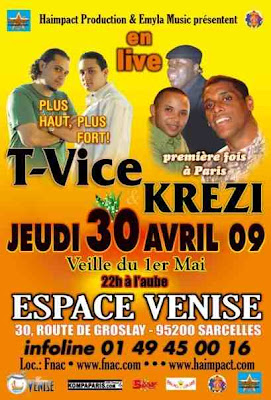 Haimpact Production & Emyla Music presentent T-Vice et Krezi Espace Venise