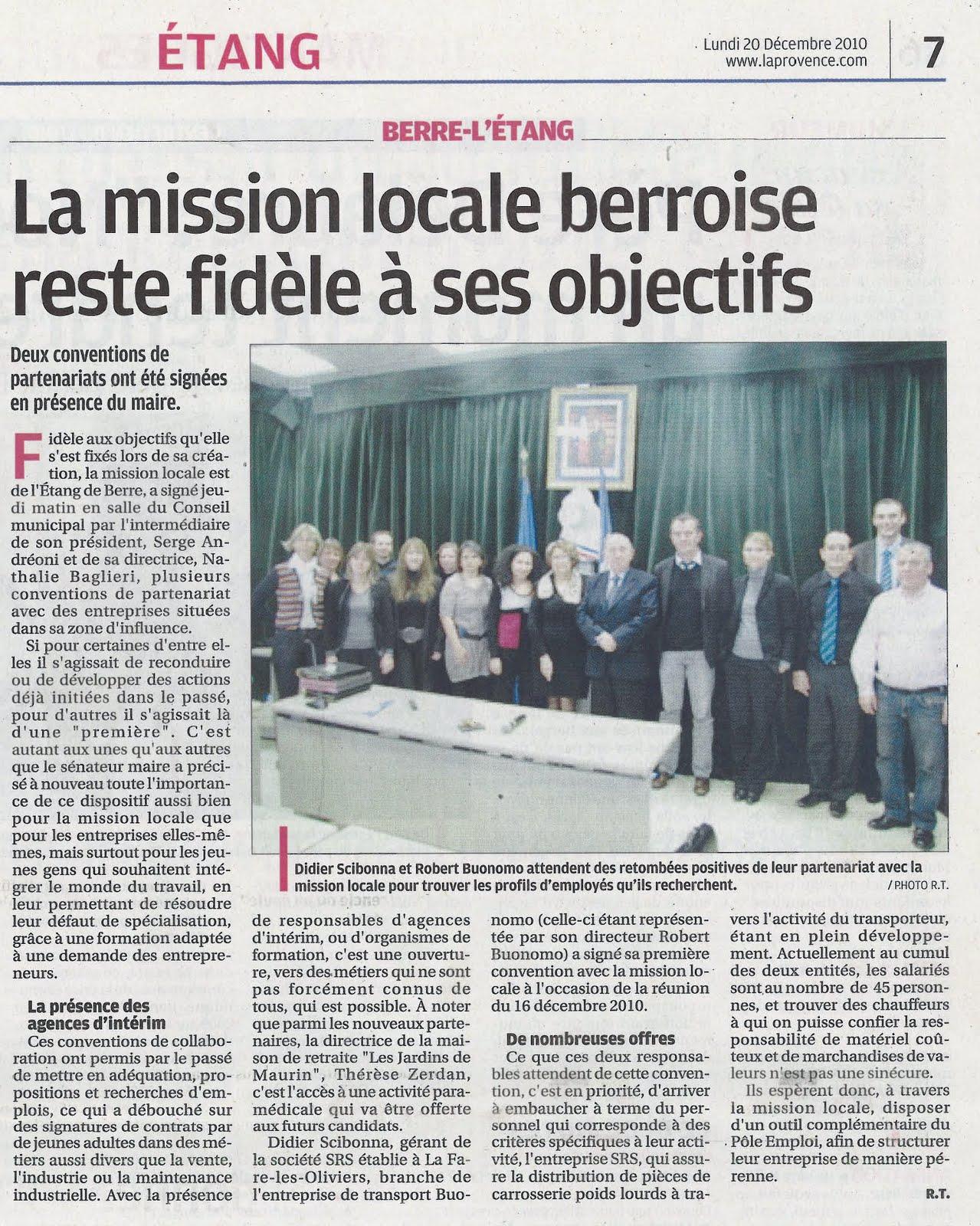 Source la provence - Mission locale salon ...