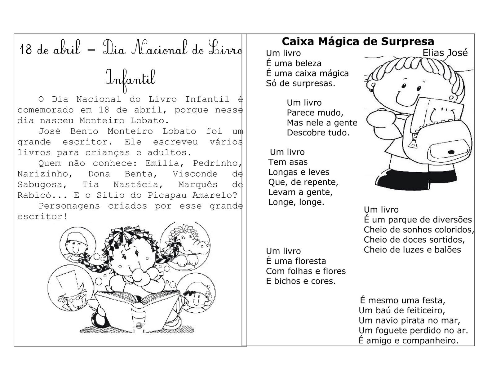 Atividades Para O Dia De Monteiro Lobato