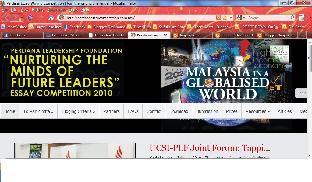 malaysia essay competition 2009 Essays how to quote, essay about the poem my papa waltz, schizophrenia definition essay, essays how to quote, malaysia essay competition 2009.