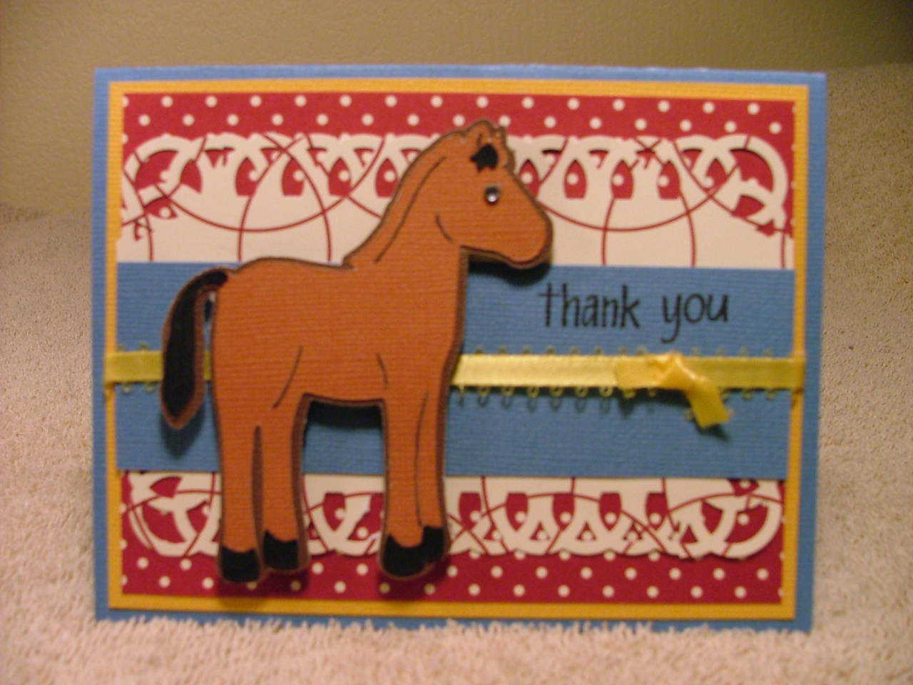 Scrapbook Cards And Crafts Thank You Card Animal