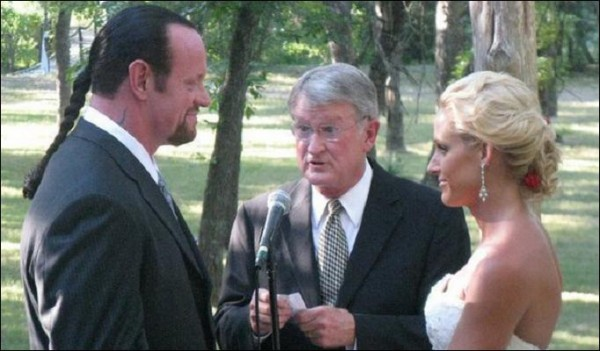 Undertaker and his wife Michele