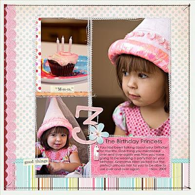 Birthday Princess Digital Scrapbook