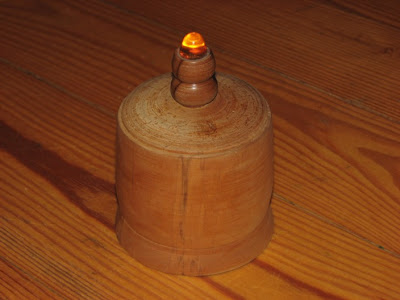 turned wood vessel