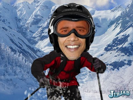SEE PRESIDENT OBAMA SKIING !