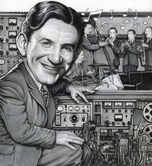 <br><i>Raymond Scott Portrait<br> by DREW FRIEDMAN</i>