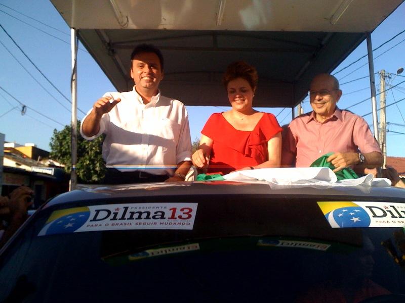 Resultado de imagem para Iberê Dilma e Carlos eduardo Alves