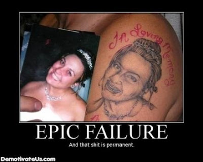 Motivational Poster Font on Epic Fail Tattoo Demotivational Poster Jpg