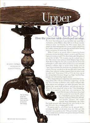 The March Issue Of Traditional Homes Magazine Had An Interesting Article  About Piecrust Tables. I Have A Fondness For Antique Tables Of All Sorts  And Would ...