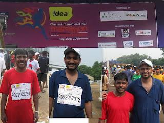 j suresh kumar ,Sajeesh,chennai marathon 2009
