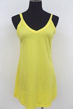 A 1011 - Plain cotton dress (yellow)