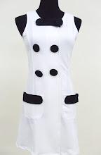 A 1115 - White dress w/button