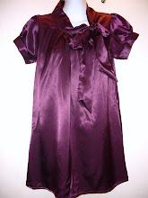 A 1137 - Satin purple top