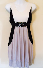 A 1166 - Black/white top (belt not included), fits size S,M