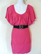 A 1174 - Pink top (belt not included), free size (fits size S,M)