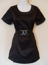 a 1176 - Black sequinne top (belt not included), fits size S,M