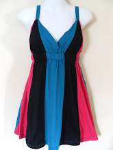 A 1183 - Coloured stripe dress, fits size S,M