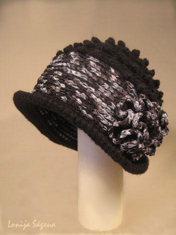 tamborēta cepure retro stils pumpu podiņš closhe lofonsa