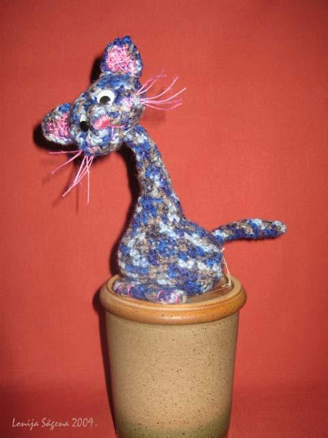 tamborēts kaķis,croshet cat,lofonsa