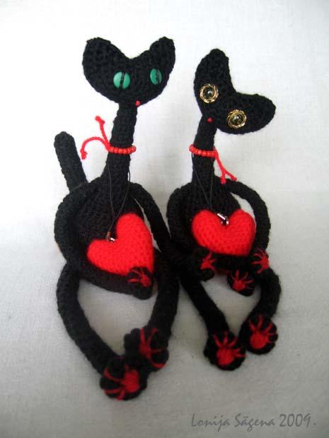 tamborēti melni kaķi,lofonsa