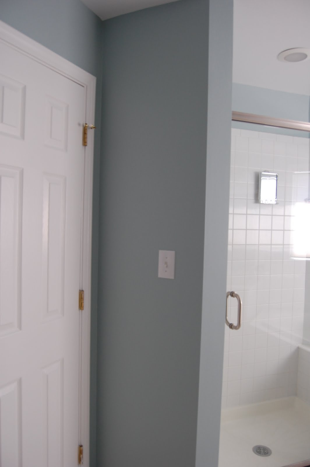 Kicking it in the suburbs master bath reno part 7 paint for Benjamin moore eco spec paint
