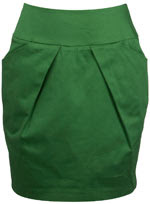 green tulip skirt