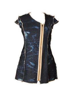 distressed blue denim dress