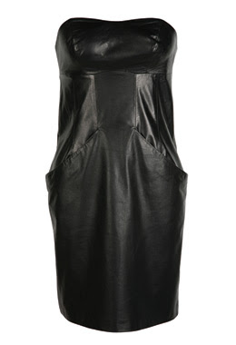 hannah marshal black strapless leather dress