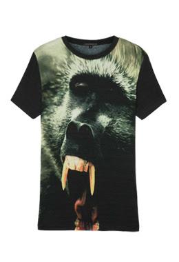 christopher kane baboon monkey t shirt