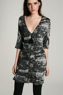 something else burnt out print dress