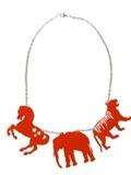 unusual perspex necklace