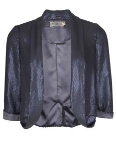 navy sequin blazer