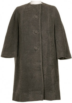 grey vintage winter coat