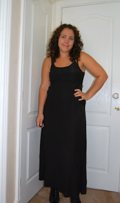 black maxi evening dress