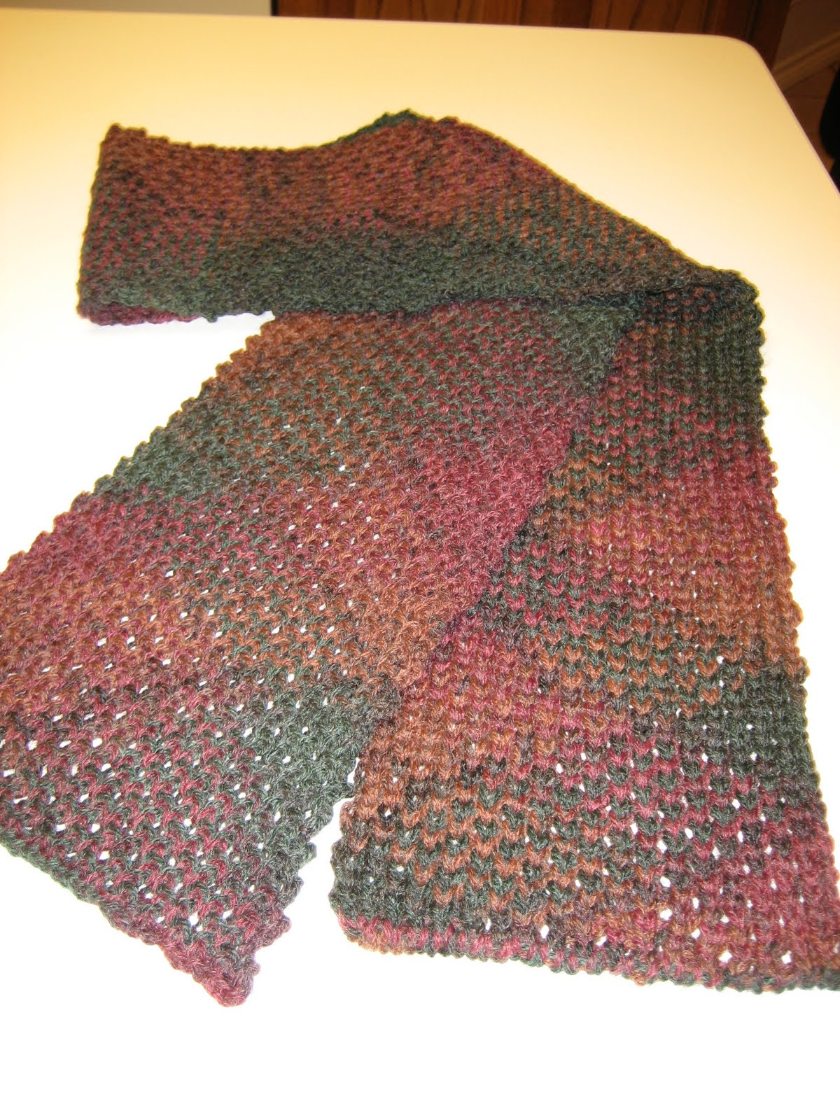 Knitting Machine Scarf Pattern : Diana natters on... about machine knitting: Honeycomb Ribbed Scarf