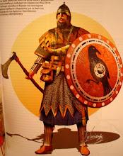 Απεικονιση μελων της Φρουρας των Βαραγγων