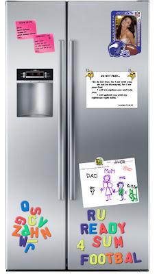 funny brett and deanna favre's refrigerator