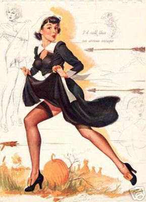 hot pilgrim thanksgiving pin up