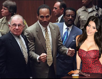 funny Kim Kardashian and OJ Simpson in a big, naked dream team pile